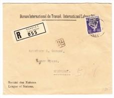 BIT R-Brief 31.XII.41 Genève 1 Nach Shanghai Zu.# BIT (D IV) 19 Mit Ankunfts-Stempel - Service