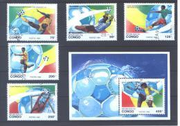 "Congo Brazzaville 966/70 + BL57 °  (used)    "" San Francisco 94 "" - World Cup"