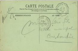 CACHET CONVOYEUR  PHILIPPEVILLE A CONSTANTINE - Railway Post