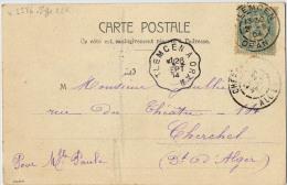 CACHET CONVOYEUR  TLEMCEN A ORAN TYPE 2 - Storia Postale