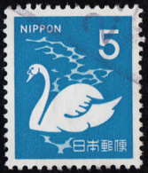 Timbre Du JAPON 1971     ´ ´    Yvert   1013   ´ ´   5 Y.  Cygne - Swans