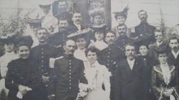 Photo Ancienne - LEROUVILLE ( Meuse ) - Mariage D´un Militaire Du 154e Régiment  - Voir Enfant , Chapeau , Mode - Unclassified
