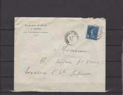 "33 - Cézac - Adrien Niaud  -  Courrier Convoyeur Ligne "" Coutras A Blaye - 1926 - Postmark Collection (Covers)"