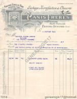 59 2689 PETITE SYNTHE NORD 1922 Sechage Torrefaction de Chicoree CANIS FRERES marque AU PLANTEUR DU NORD