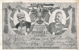 Coblenz - Firma Deinhard & Co. - Wilhelm II. + P.v.Hindenburg - Sonstige