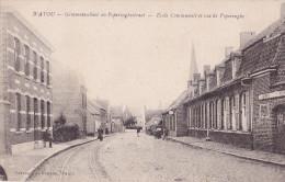 WATOU : gemeenteschool en Poperinghestraat
