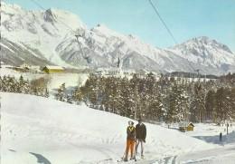 Austria E582  Obsteig In Tirol Gegen Hochplattig Und Hoge Munde - Österreich
