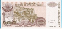 1993A   KNIN  KROATIEN CROAZIA HRVATSKA SRPSKA KRAJINA JUGOSLAWIEN JUGOSLAVIJA  50    MILLIARD   DINARA UNC - Billets