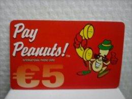 Prepaidcard Belgium Pay Peanuts Used