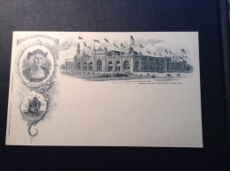 USA 1893 COLUMBIAN EXPOSITION CHICAGO 1c Postal Card MINING (Columbus Christoph Colomb Mine Bateau Ship)