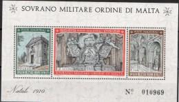 PIA - SMOM - 1970 : Natale -  Chiesa Di Santa Maria Del Priorato In Roma - (UN Foglietto 3) - Malta (la Orden De)