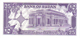 Billete De 25 Piastras Del Sudan - Soudan