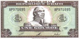 BILLETE DE 1 GOURDE DE HAITI DE 1989 - Haiti
