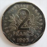 2 FRANCS 1993 - SEMEUSE, NICKEL  -  SUP + (SUPERBE +)     (702)