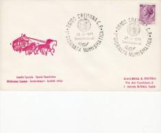 Annullo Speciale 1 Giornata Numismatica Cremona 28-03-1971