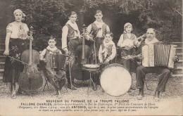 Souvenir De La Troupe Fallone  Orchestre Et Accordéoniste - Zangers En Musicus