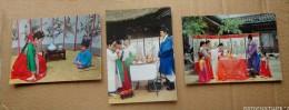 COREE - Lot : 5 Cartes De La Vie Traditionnelle: Costumes, Danses, Mariage... - Korea (Süd)