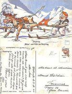 "ILL. Minouvis N°8 ""Bless"" Und Kobi Am Skijoring JAHRE 1940 (R-L 104) - Illustrators & Photographers"