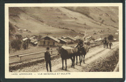 73. ARESCHES  (SAVOIE)... ANIMEE..MULETS..VUE GENERALE...C1672 - France