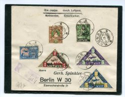 Lietuva Registered Cover Airmail 1922