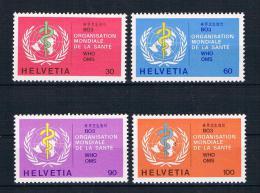 Schweiz 1975 WHO Mi.Nr. 36-39 Kpl. Satz ** - Dienstpost