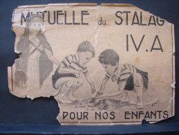 AF. CP. 1. Carte Postale En Papier Léger De La Mutuelle Du Stalag IV.A .... Pour Nos Enfants. 1944 - Documents