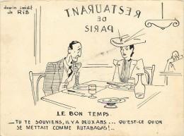 DESSIN INEDIT DE RIB  DE 1943  SUR PAPIER RIGIDE  14 Cm / 10cm - Non Classés
