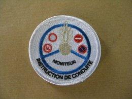 Ecusson De Bras Moniteur Instruction De Conduite - Police & Gendarmerie