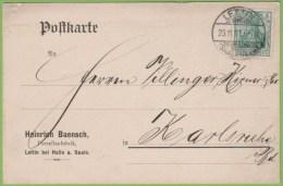 LETTIN SAALKREIS 23.11.11 - Heinrich Baensch Porzellanfabrik Lettin Bei Halle A. Saale - Postwaardestukken