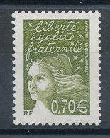 3571** Marianne Du 14 Juillet - 0,70 € Vert-olive - France