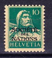 Schweiz - Ämter - Société Des Nations Zu.# SDN 29 * Tellbrust 10Rp. Blaugrün - Service