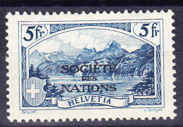 Schweiz - Ämter - Société Des Nations Zu.# SDN 31 * Gebirgslandschaft 5Fr. Blau - Service