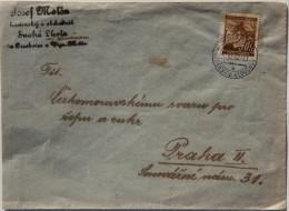 Cover 1942 Prag, Fr. 30h Mi 24 Lindenzweig - Cartas