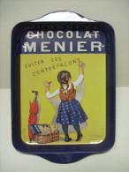 PLAT Vide-poche Publicitaire En Tôle CHOCOLAT MENIER - Cioccolato