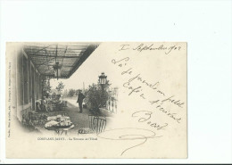 CPA ____ 54 - CONFLANS JARNY ----- La Terrasse De L'hôtel - France
