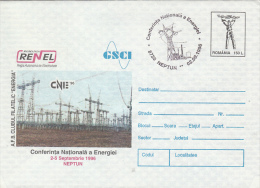 4653- ELECTRICITY NETWORK, ENERGY CONFERENCE, COVER STATIONERY, 1996, ROMANIA - Electricidad