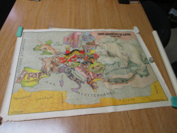 WWII Poster Affiche Comic Europe Russia Germany England - Documents