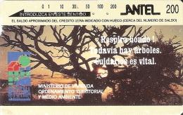 28 TARJETA MAGNETICA DE URUGUAY DE MVOTMA PUESTA DE SOL-SUNSET - Uruguay