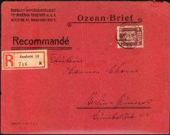 """1924: Ozean-Brief Der """"""""Deutschen Betriebsgesellschaft Für Drahtlose Telegrafie"""""""" Ab HAMBURG Nach Berlin-Grunewald. Umsc - Germany"""