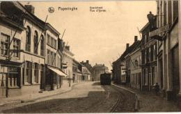 Poperinge  7 CPA Statie Yperstr Tram � Vapeur Gasthuisstr '05  Pensionaat '15 poids Public   Schaalstr  Grote Markt