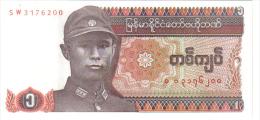BILLETE DE MYANMAR  1 KYAT = 2000 = BIRMANIA. S/C . - Myanmar