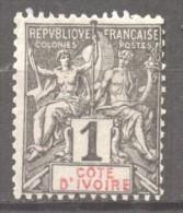 Cote D' Ivoire  N° 1   Neuf  X   Cote Y&T  2,50  €uro Au Quart De Cote - Côte-d'Ivoire (1892-1944)