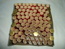 Lot de 100 �tuis vides pour cartouche � broche cal. 16 �tat neuf fabrication BEAUX MILANO