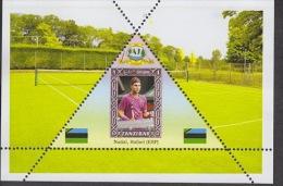 Zanzibar Fantasy Label Tennis The Best Players Serbia Latvia USA ... NEW 12 Blocks - Tennis