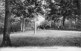 CPA -   FORET  DE  CARNELLE  (95)   Route  Et Poteau De Saint - Martin  (du Tertre)   Attelages - Francia