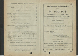 Tarif Pêcherie D'éponges Marseille - Advertising