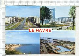 LE HAVRE  -   4  Vues :   Avenue Foch -  Hôtel De Ville -  Le Nice Havrais  -  Piscine Et  Port De Plaisance - Autres