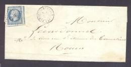 EURE 28 FLEURY SUR ANDELLE LAC Tad Type 15 Du 4 Décembre 1854 PC 1289 Sur N° 14 TB - Marcophilie (Lettres)