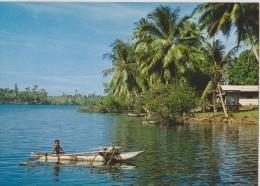 """OCEANIE,nord De L""""australie,PAPOUASIE NOUVELLE GUINEE,new Guinea,pirogue,canoe,enfa Nt,pilote,marin - Papouasie-Nouvelle-Guinée"""