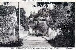 C1654 Cpa 63 Chateauneuf Les Bains - Le Château, Le Village De Lavaux - Non Classés